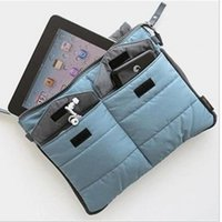 Fabric organizer computer - New Arrival tablet Organizer Bags storage bag casual computer clutch tote bag for ipad for ipad air High quality