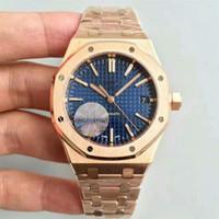Wholesale Gold Chronograph New - Famous Luxury watch men AAUDEMARS PPIGUET Royal Oak Quartz 18K Rose Gold STAINLESS STEEL PVD Chronograph stopwatch Men Watches