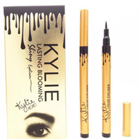 Wholesale Eyeliner Tubes - NEW makeup KYLIE gold tube liquid eyeliner pencil lasting blooming gold box Long-Lasting free shipping