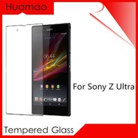 Wholesale Xperia Z Protective Cover - Premium Version HD Tempered Glass Screen Protector For Sony Xperia Z Ultra XL39H Protection Cover Protective Glas Film Sticker