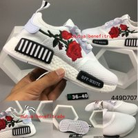 Wholesale Unique Summer - Unique NMD Women's Fashion Casual Shoes Weave Mesh Personality Embroidery Breathable Light Floral Printed High Quality Sneakers,Size:36-40