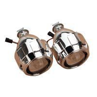 Wholesale Devil Hid - 2.5 inch Auto Mini Bi-xenon For HID Projector Lens Shrouds Kit Angle DEVIL Halo Eye Headlight H1 H7 H4 H11 9005 9006 LHD
