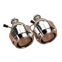kit diablo al por mayor-2.5 pulgadas Auto Mini Bi-xenón para lente de proyector HID Kit de cubiertas Ángulo DEVIL Halo Eye Headlight H1 H7 H4 H11 9005 9006 LHD