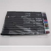 12 göz kalem seti toptan satış-Toptan Yeni Sıcak Satış 12 Adet / takım Renkli Su Geçirmez Göz Kalemi Eyeliner Kalem Kaş Makyaj Aracı