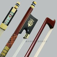 Wholesale Violin Parts - Wholesale- Free Shipping High Quality Brazil Wood 4 4 Violin Bow Siberia White Horsetail Copper Parts Best Balance parts accessories