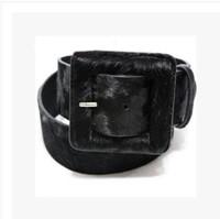 Wholesale Wide Leopard Print Belt - Wholesale- Strap female fashion all-match cowhide horsehair women's wide belt wide cummerbund leopard print wide elastic belt