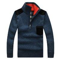 Wholesale Warm Sweater Size Xs - Wholesale- New Fashion Male Casual Knitwear Pullovers Autumn Winter Men's Long Sleeve Knitted Warm Sweaters Plus Size M-XXXL 30161
