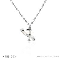 Wholesale Dentist Woman - Antique Silver Dentist Chair Chain Necklaces Birthday Best Gifts For Women Platinum Charms Metal pendant Necklaces