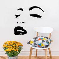 ingrosso marilyn monroe adesivi decalcomanie-2017 Vendita Calda Hot Sexy Marilyn Monroe Decal Stickers Camera Da Letto Soggiorno Murales Decorativi Arte Del Vinile FAI DA TE