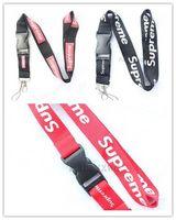 universal-handy-lanyard großhandel-Neue Lanyard / Schwarz / Rot / Kleidung Lanyard für MP3 / 4 Handy Schlüsselanhänger Lanyards Strap Holder / Abnehmbarer Schlüsselbund