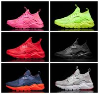 Wholesale Comfortable Running Shoes For Men - 2016 New Air Huarache Run Ultra BR Running Shoes For Men & Women, Comfortable Mesh Huaraches Sneakers Wholesale Famous Trainers Size 36-46