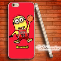 Capa Minion Drop Shipping Soft Clear TPU Funda para iPhone 6 6S 7 Plus 5S SE 5 5C 4S 4 Funda de Silicona.