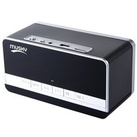 Wholesale floor stand clock - Wholesale- Black Mini Portable Speaker MUSKY DY - 27 Bluetooth Speaker with LED Display Clock Alarm FM Radio Support AUX TF Card Playing