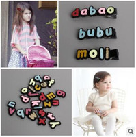 Wholesale Wholesale Customizable Accessories - Children's hair accessories Customizable hairpin little girl baby name characteristic edge clip hairpin baby hair letters