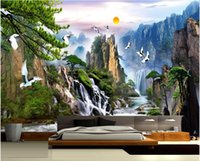 Wholesale Wall Papers China - Wholesale-China landscape Photo Wallpaper Natural Scenery Mural Wallpaper Home Decor Wall Mural