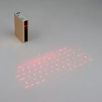 clavier de projection iphone achat en gros de-En gros - Pleine puissance Laser Keyboard Power Bank sans fil Bluetooth Projection Projection virtuelle pour tablette iPhone iPad mini