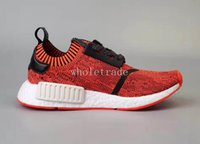Wholesale Apple Box Size - NMD R1 Pk Red Apple Running Shoes Women Men NMDS R1 Primeknit Sneakers On Sale Size 36-45 Come With Box Free Shipping