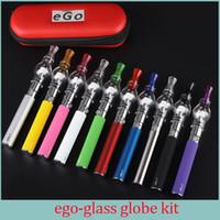 ingrosso atomizzatore di cera m6 di ego-Glass Globe Atomizzatore EGo T Starter Kit sigaretta elettronica M6 Vaporizzatore cera 600/900/1100 mah Ego T Cigarette Single Zipper kit