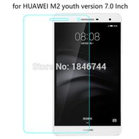 Wholesale Screen Protector For 7inch - Wholesale- 9H Explosion proof Tempered Glass Screen Protector for HUAWEI M2 7'' youth version Toughened protective Screen Film m2 7inch