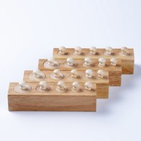 Wholesale Juguetes Montessori - Wholesale- Baby Toy Montessori Cylinders 4 Blocks Sensorial Preschool Training Early Childhood Education Brinquedos Juguetes