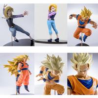 Wholesale Dragon Ball Z Goku Figure - 6 Styling Original Banpresto SCultures 6 Series Anime Dragon Ball Z Goku Android NO.18 PVC Action Figure Model Toys Dolls Bandai DBZ Figuras