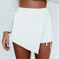 Wholesale Lightweight Skirts - New Hot Sale In The Summer of Europe and The United States Women's Irregular Bandage Thin Short Skirts Pants One Piece Shipping