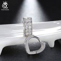 ORSA JEWELS Vente en gros CZ Stud Earrings Silver Couleur plein de Crystal AAA Quality Fashion Jewelry Supplier OE78