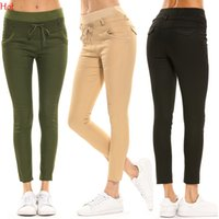 Hot Ladies Pants Summer Solid Pencil Femmes Pantalons Girls Sweet Skinny Slim Trousers Femme Casual Capris Solid Color Long Pant Vente en gros 17576