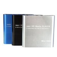 mpeg hdd toptan satış-Toptan Satış - Sıcak Satış Mini 1080P HDD Medya Oynatıcı MultiMedia Muti-işlevi Video Oynatıcı MKV / H.264 / HOST USB Kart Okuyucu ile RMVB Full HD En İyi
