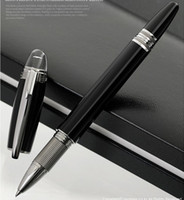 Wholesale Office Gel Pens - hot sell Star Walker black resin ballpoint pen   Roller ball pen   Fountain pen office stationery luxury Writing ball pens for Gift M8