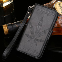 Wholesale Hanging Rope Frame - For Sony Xperia X Performance XA Wallet Case Maple leaf Embossing PU Leather Cover with Card Slots Photo Frame hang rope Flip Cover