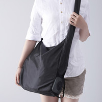 Wholesale flat metal hooks - Foldable Storage Bags With Metal Hook Design Nylon Pouch Chunky Easy To Carry Square Shopping Bag Portable 10 78sr B