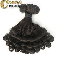 Wholesale Human Hair Curls Sales - Peruvian virgin hair bundles human hair extensions cheap prices sale 100% wet and wavy human hair funmi curl stock length in cheap price