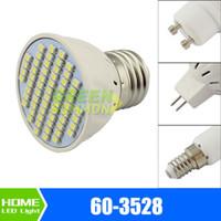 mr16 24v led ampuller toptan satış-E27 E14 MR16 GU10 LED 3 W 60-3528 SMD Sıcak Beyaz Işık 12 V 24 V 110 V 220 V Ampul