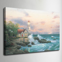 Wholesale thomas kinkade canvas art - Thomas Kinkade Oil Painting Landscape Rural cottage HD Canvas print Wall Art Pictures Home Decor Living Room Decoration