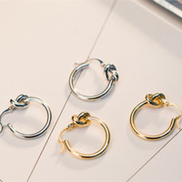 Wholesale hot women america - Newest Design Simple Fashion Europe and America Hot Trendy Gold Plated Personality Hoops Earrings for Girls Women BRC-048