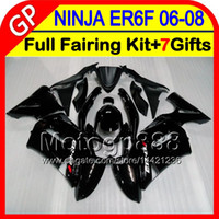 Wholesale Glossy black gifts Body For KAWASAKI NINJA R ER F HM1 ER6F R ninja650 ER F Fairing Kit Gloss black