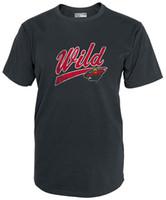 Wholesale Large Tee Shirt Men - Newest 2017 Men T-Shirt Fashion NHL Minnesota Wild Mens National Hockey League Short sleeve Tee, CHARCOAL, Large
