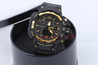 Wholesale Displaying Hook - GA1100+G box relogio men's sports watches, LED chronograph wristwatch, military watch, digital watch, good gift for men & boy, dropship