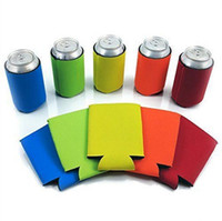 Wholesale Drink Can Holders - Beer Can Sleeves Neoprene Drink Cooler Sleeves Wrap Holders Can Insulator Nigth Party Favors Gifts OOA2236