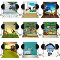 Wholesale Sea Photography Backdrops - 4X5ft 3D forest sea animals scenic photo background for baby newborn camera fotografica digital cloth studio photography backdrops vinyl