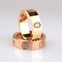 Wholesale Silver Gold Love Ring - titanium steel love screw ring silver rose gold ring for lovers