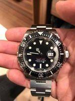 Wholesale dive eta - Mens Business Automatic Asia Eta 2831 Date Watch 2017 Ceramic Black Dial 126600 Glidelock Clasp Dive Basel 43mm Sea Water Resistant Watches