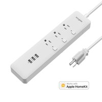 Wholesale Surge Outlet Strip - Koogeek Smart Surge Protector Wifi Power Strip 3 Outlets with 3 USB Charging Ports for Apple HomeKit Remote Control on 2.4GHz Network O1US