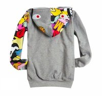Wholesale Devil Fruit - Hooded kanye west Shark Head Printed Men's Buns Sweater Men's and Women's Couples Hooded Jackets Devil Fruits Casual Jackets Hip-Hop Clothin