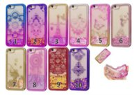 Wholesale Eiffer Tower - Chromed Bling Liquid Quicksand Soft TPU Case For IPhone 7Plus 6 6S SE 5 Glitter Lace Flower Plating Moving Powder Eiffer Tower Skin