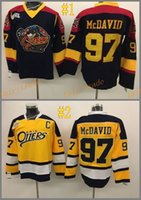 Men black otter - Deluxe Edition CONNOR McDAVID ERIE OTTERS black yellow Cheap Hockey Jerseys Ice Winter Jersey All Stitched Size