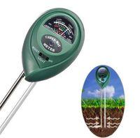 medidor de umidade do solo do jardim venda por atacado-PH Tester Medidor de 3-em-1 Medidor de Umidade do Solo de Luz e Função de Teste de PH Jardim de Plantas de Solo Hidroponia Água Analyzer Detector Umidade