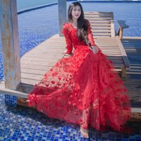 Abiti per le donne Gonna The Seaside Holiday Abito lungo Light Stereo Flower Bud Silk Coltivare One Morality Dress Long skirt