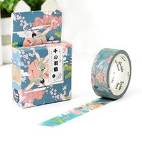 Wholesale New Scrapbooking Supplies - Wholesale- 2016 1Box New Flying Crane in The Cloud Decorative Washi Tape DIY Scrapbooking Masking Tape School Office Supply H1773